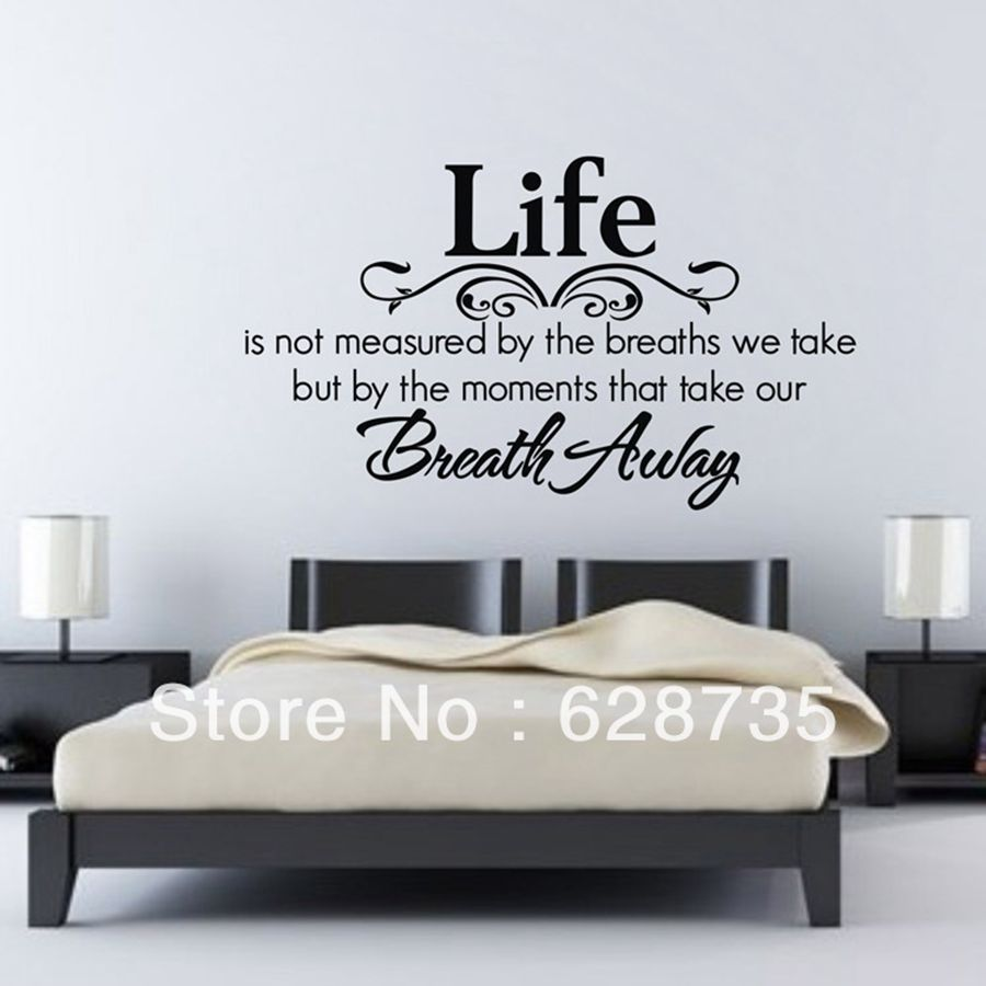 23 6x15 7  Life is not measured Vinyl Wall Home Decor Decal Quote  InspirationalCompare Prices on Adorable Quotes  Online Shopping Buy Low Price  . Room Wall Art Stickers. Home Design Ideas
