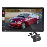 7080B 2 Din In Dash Auto Car MP5 Video Player With Rear View Camera Remote Control 7 Inch Touch Screen Support USB / TF / AUX