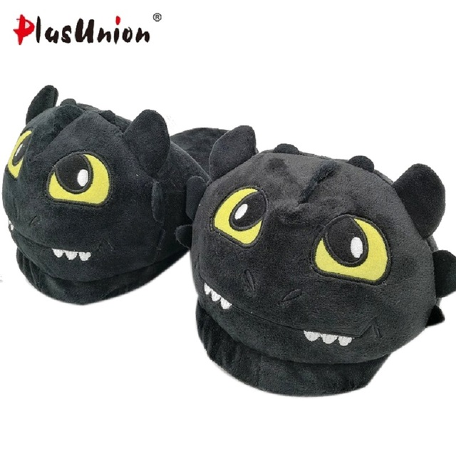 dragon home indoor plush slippers with fur black winter furry fluffy slides  rihanna fuzzy house mules women flat shoes p192 ad9537fb5