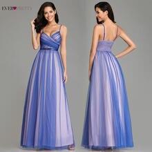 f91bd72ab Elegante cuello en V vestido de noche largo vestido de ilusión de contraste  de Color azul