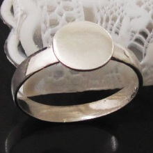 Beadsnice 925 Sterling Silver Round Pad Ring Blank Top 8mm 24141