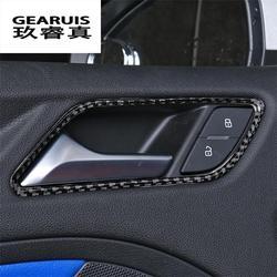Car Styling carbon fiber Interior Inner Side Door Handle Bowl Trim For Audi A3 8V Sedan Hatchback Sportback 2013 - 2017 Year