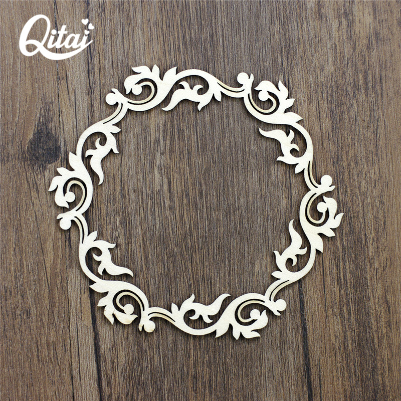 Us 4 51 39 Off Qitai 12 Pieces Lot Wooden Veneer Shape Vintage Mix Style Wood Head Ring Woodchips Scrapbooking Embellishment Diy Craft Wf029 In