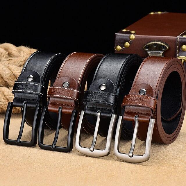 [DWTS]belt male leather belt men male genuine leather strap luxury pin buckle belts for men belt Cummerbunds ceinture homme 4