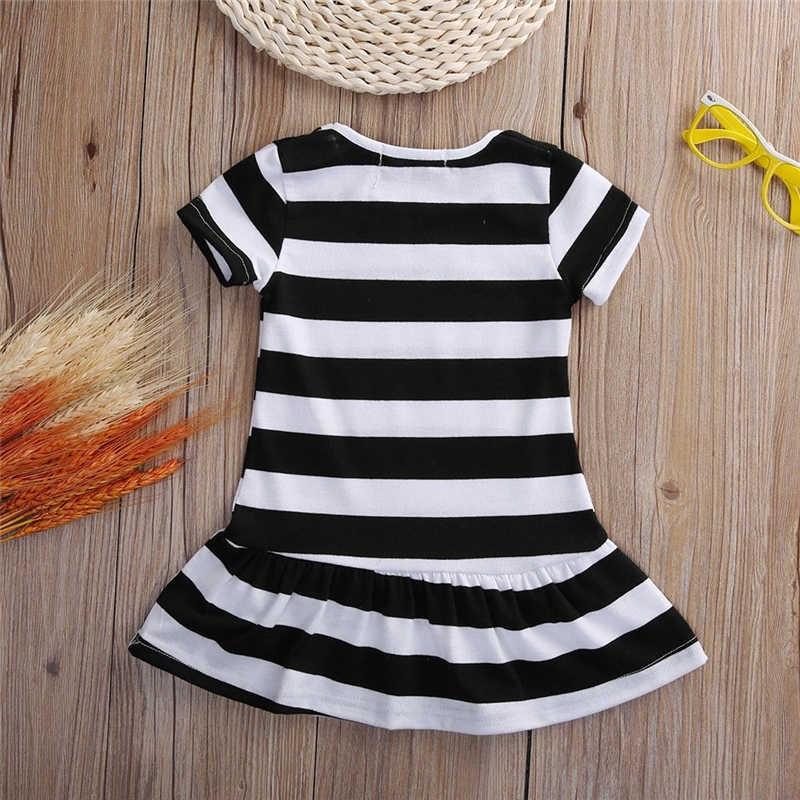 Çocuklar yaz elbiseler kız karikatür pamuk çiçek gömlek kısa yazlık T-shirt yelek Maotou plaj parti elbise
