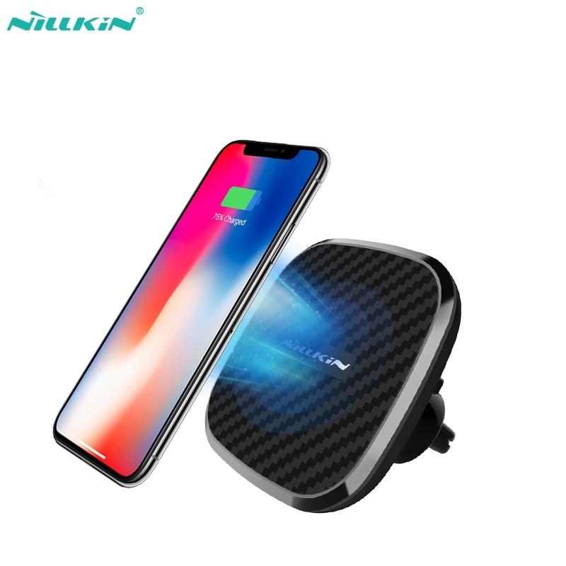 Nillkin 10 W Sans Fil rapide chargeur de voiture 2-en-1 Qi Magnétique voiture sans fil Mont Charge Pad pour iPhone X 8/8 Plus pour Samsung S9/S8