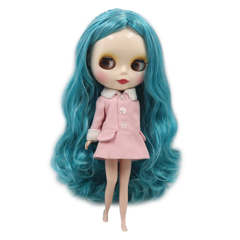 Dream fairy factory blyth doll white skin Retro mixed color without bangs braided curls hair normal