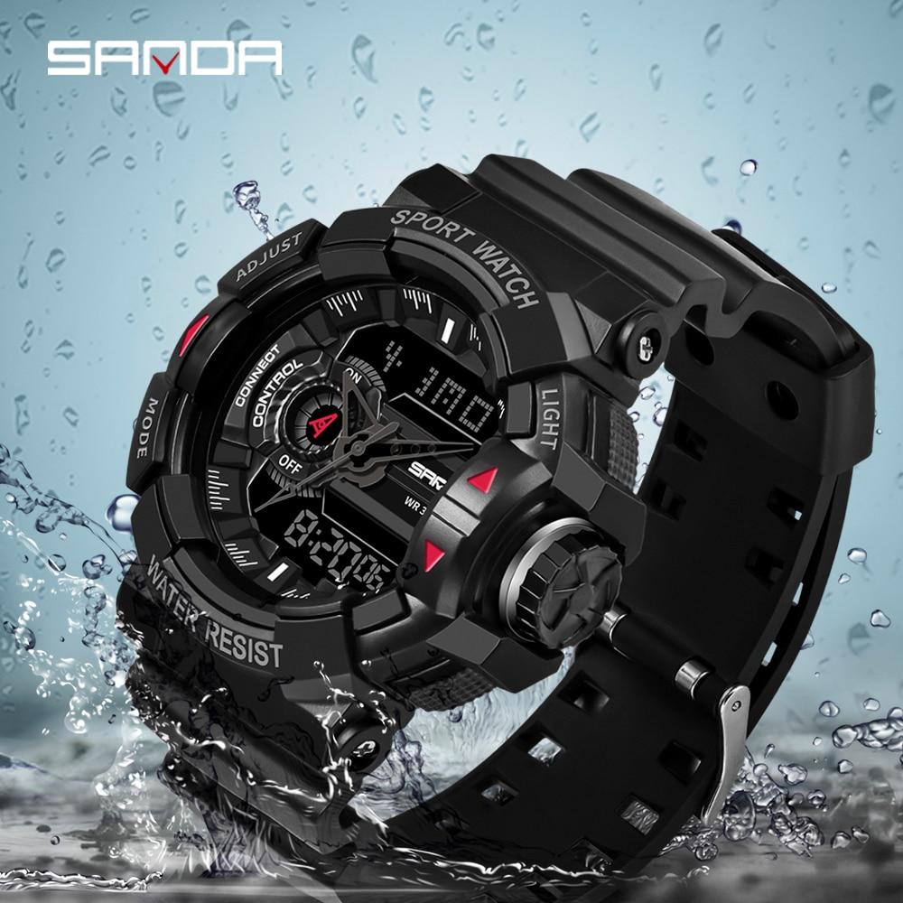 2019 New SANDA Military Watch Men's Top Brand Luxury Waterproof Sports Watch Fashion Quartz Clock Men's Watch Relogio Masculino