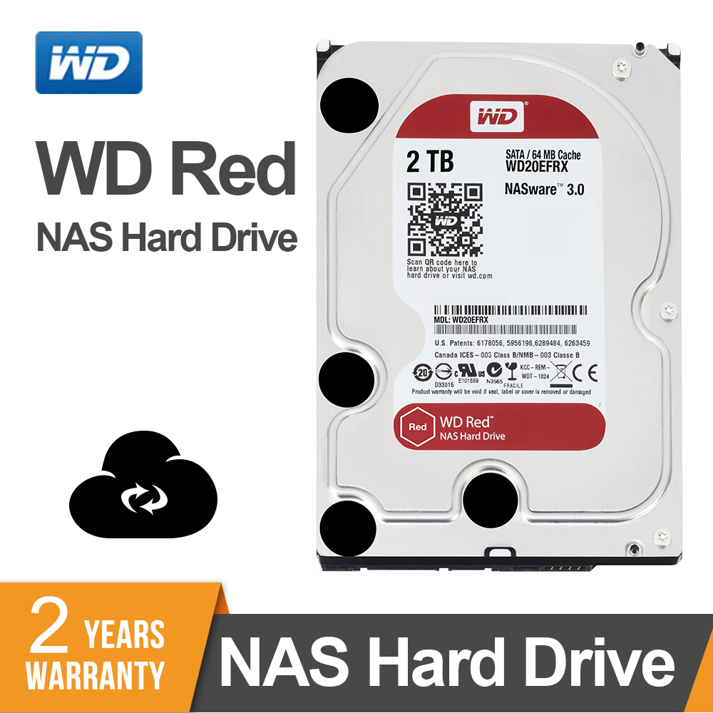 WD Red 2TB Network Storage 3 5 NAS Hard Disk Red Disk 2TB 5400 RPM 256M