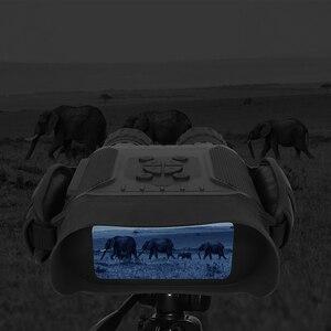 Image 3 - מקצועי ראיית לילה 32G IPX4 400m HD IR מצלמה תמונה וידאו 5x זום סט זמן מסך רחב משקפת משקפת עבור ציד
