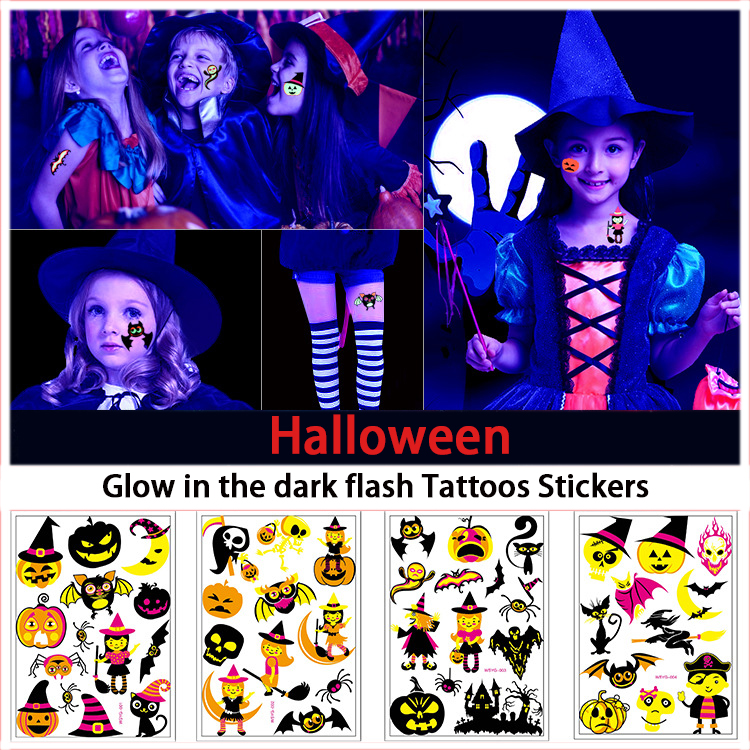 Halloween - Glow in The Dark Luminous Tattoo
