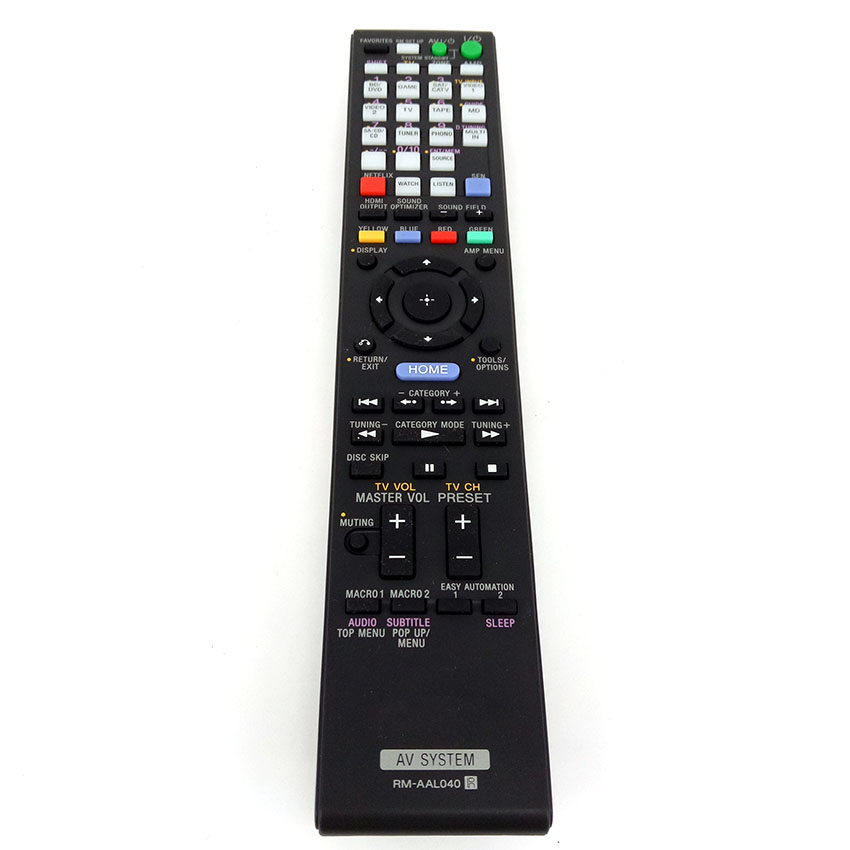 ORIGINAL for SONY RM-AAL040 Home Theater System Remote Control STR-DA5700ES Fernbedienung NEW used original for philips home system remote control rc2683701 02 313923819902 fernbedienung free shipping