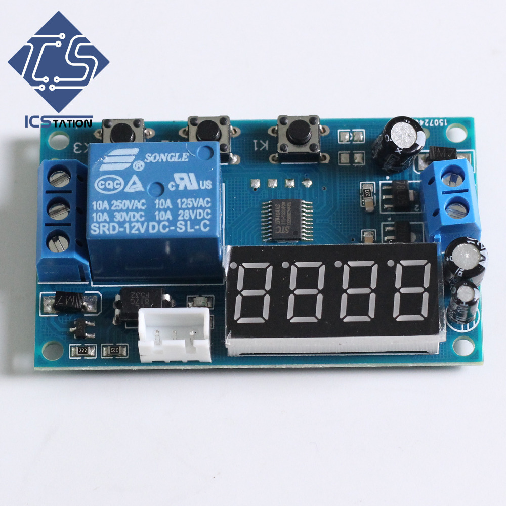 YYW-1 Digital Display Temperature Controller Switch DS18B20 Temperature Control Module Sensor Board dc 12v led display digital delay timer control switch module plc automation new