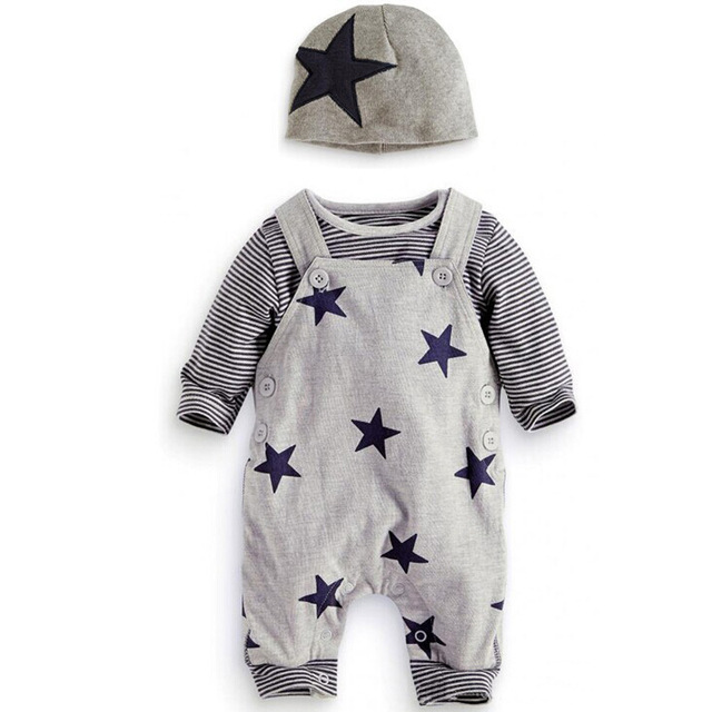 3Pcs/set Baby Clothes Spring Girls Clothing Sets Newborn Baby Rompers Roupa Bebe Autumn Baby Boy Clothes Infant Jumpsuits