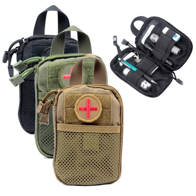d5e5bda0ece8c Molle Tático Engrenagem EDC Bolsa de Primeiros Socorros Médicos saco Da  Cintura Bolso Organizador EMT W