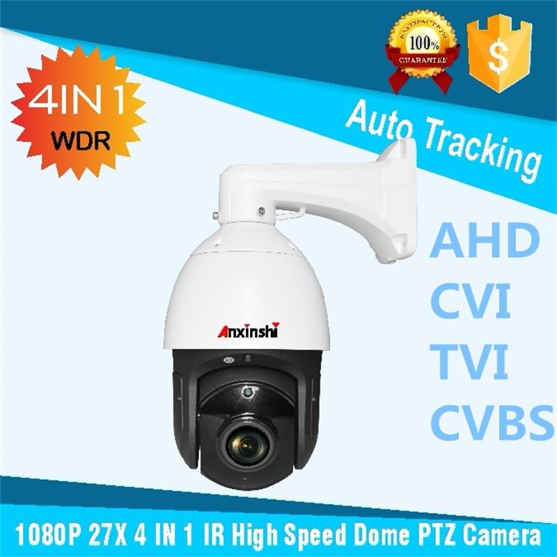 Trasporto libero Auto tracking PTZ CVI IR 150 m Sony 323 CVBS CVI Analog HD 2.0MP CVI Dome Ad Alta Velocità macchina fotografica con BNCvia RS485 PTZ