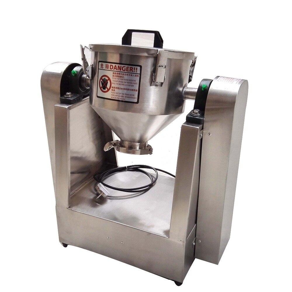 Mélangeur de poudre sèche chimique rotatif en forme de cône simple de 3 kg mélangeur de poudre chimique mélangeur de maïs additif alimentaire
