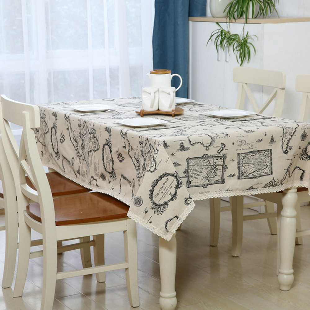 European Simple Tablecloths Linen Tablecloths Dustproof Coffee Table Cloth  Rectangular Tablecloth Home Textile Products In Tablecloths From Home U0026  Garden On ...