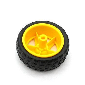 1 par 2 uds ruedas de soporte chasis/neumático/ruedas de coche robot diámetro 65MM grosor 28MM DIY 3