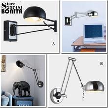 Balancín telescópico plegable oscurecimiento luces de pared para dormitorio LED lectura apliques moderno minimalista estudio lámparas industrial pared lig