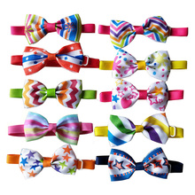 100pcs Summer Pet Dog Accessories Pet Dog Cat Bowties Collar Star Waves Stripes Puppy Cat Ties Bow Tie PetGrooming Supplies