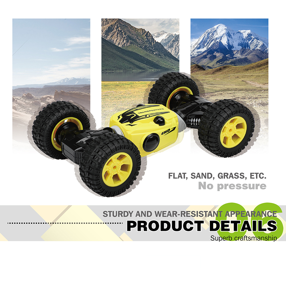US $43 49 50% OFF|Original RC Car 1:16 2 4G 4WD One Key Transform Double  Sided Flip RC Stunt Car High Speed Crawler Buggy RC Cars Kids Toys-in RC  Cars
