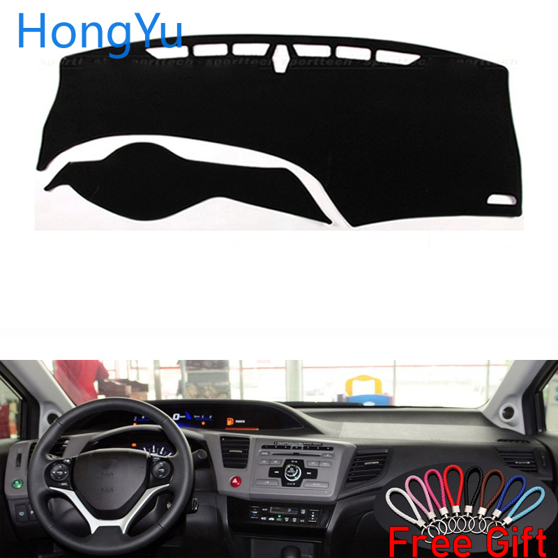 For Honda Civic 2012 - 2015 Interior Accessories Auto Car Dashboard Cover Dash Mat Board Pad Carpet Dashmat Anti-UV Mats