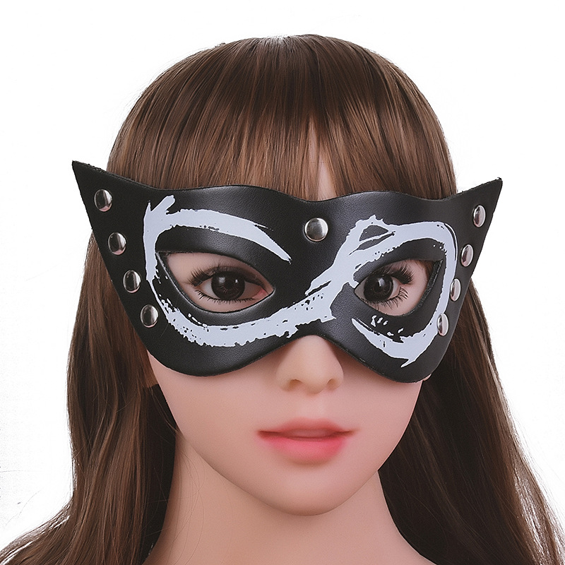 Adult Game for couples 3D Blindfold Black Shield Light Sleeping Eye Mask erotic BDSM Bondage SM Sex Toys sexy ladies Fox masks image