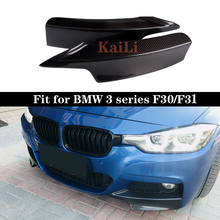 цены 3 Series Carbon Fiber Front Bumper Splitters Lip Flaps for BMW F30 F31 M Sport Sedan 4 Door 13-17 320i 325i 328i 2015+