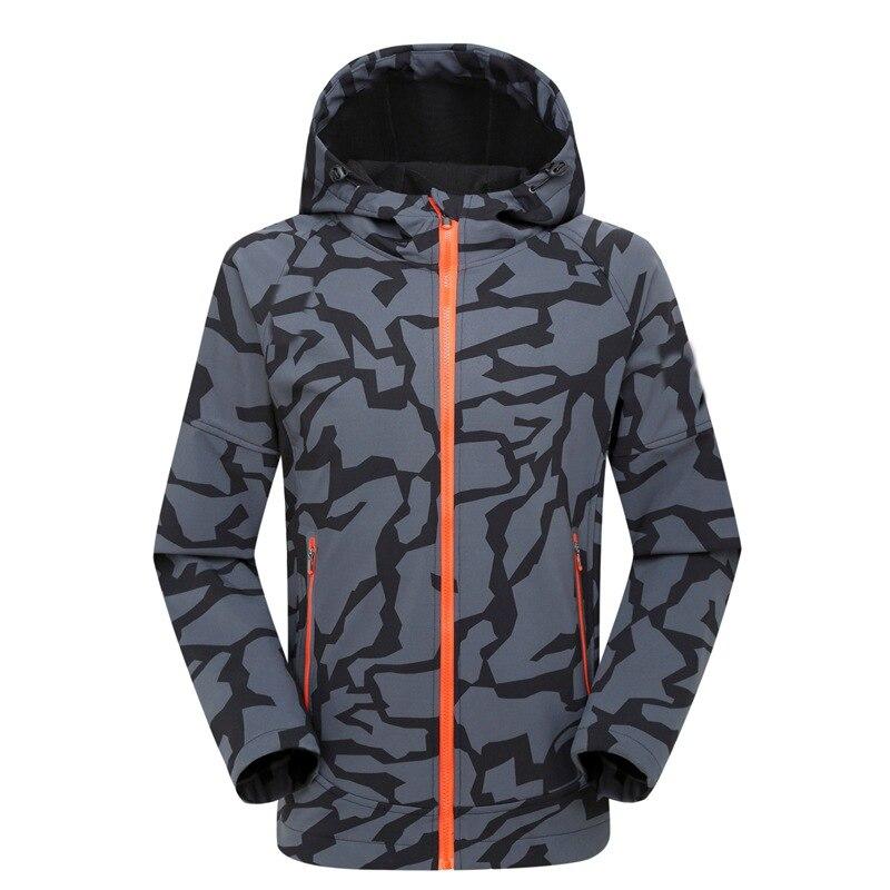 Veste d'extérieur homme hiver chasse coupe-vent Ski manteau randonnée pluie Camping pêche vêtements Sport Camouflage vestes hommes manteau