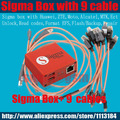 100%  Original Sigma box + 9 cables
