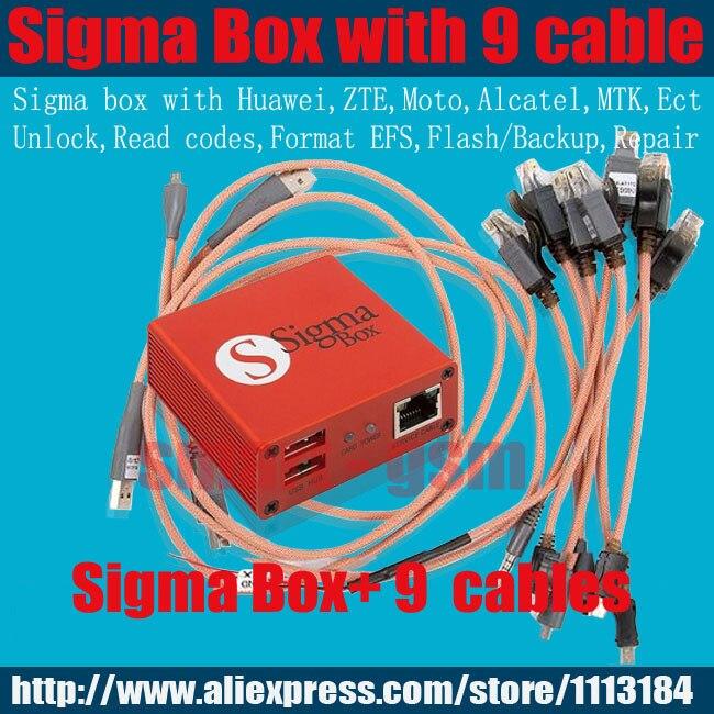 100% boîte d'origine Sigma + 9 câbles