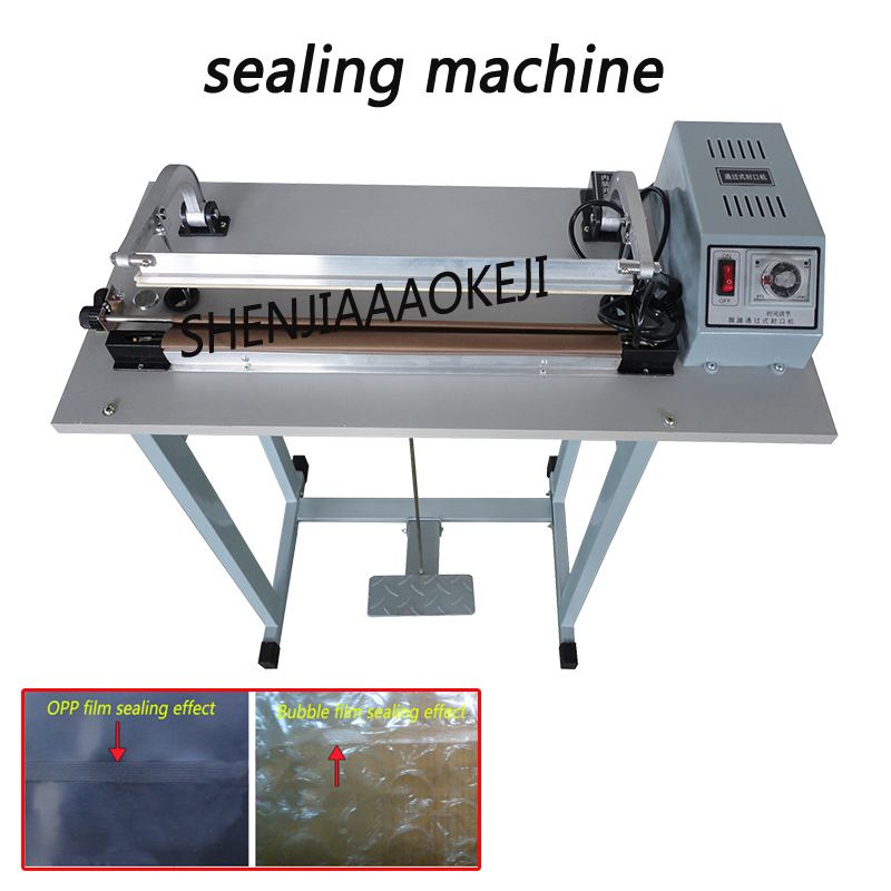 Foot Pedal Impulse Plastic bags Sealer Heat package Sealing Machine shrinking equipment economic packaging tool недорго, оригинальная цена
