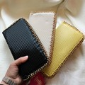 European and American style diamond cutting concave  convex surface Women hand bag Long Wallet