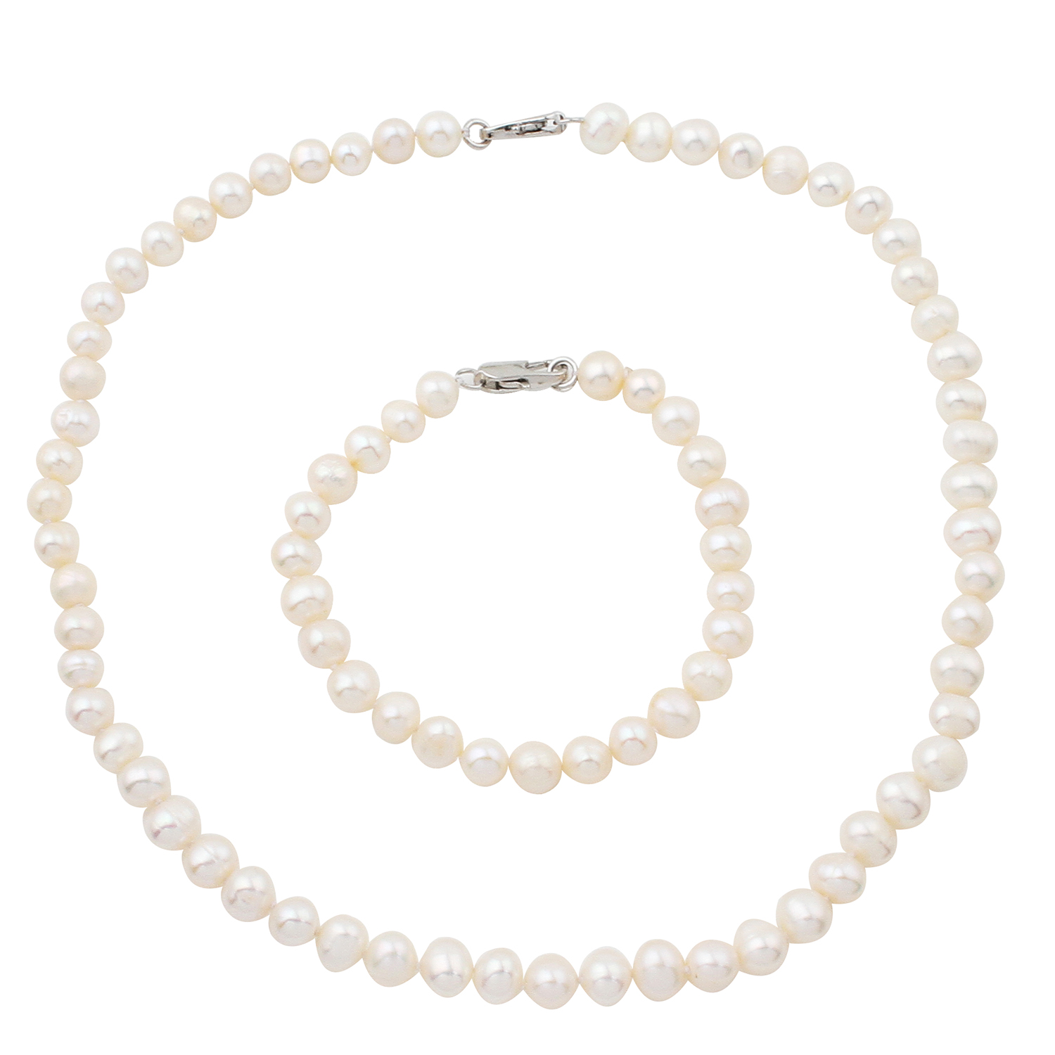 Necklace Earrings Beads Finding Jewelry-Making Bracelat Pearl White Natural 7-8mm Rice