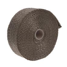 VODOOL 10m Exhaust Heat Thermo Insulation Wrap Pipe Tape Fireproof Car Glass Fiber Roll Exhaust Systems