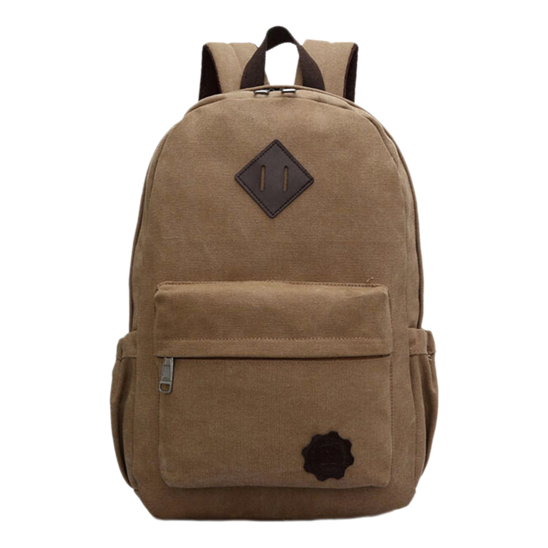 5 pcs of Vintage Men Canvas Backpack Fashion School Bag Casual Travel Rucksack Shoulder Bag, Brown стоимость