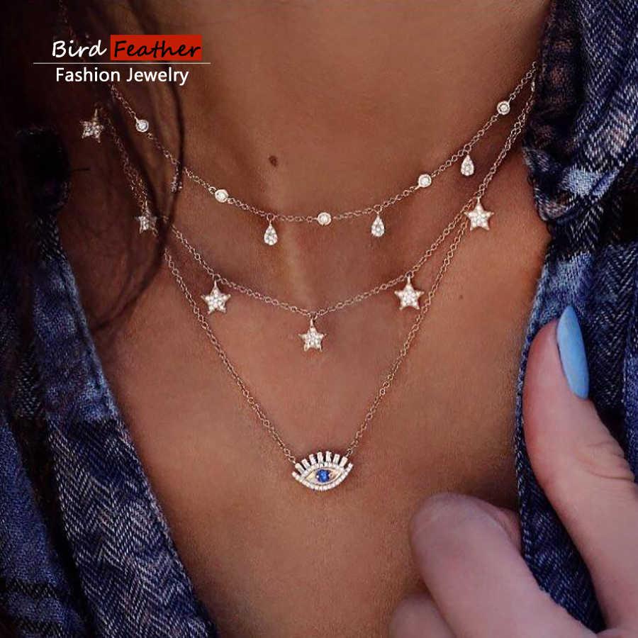 1b4072e9644 Gold color Choker Necklace for women Long eye Tassel Pendant Chain Necklaces    Pendants Laces velvet