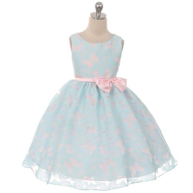 40c75b0c4fdae Motif papillon Tutu robe pour Fille petite Fille élégante robe de bal rose  noeud ruban solide
