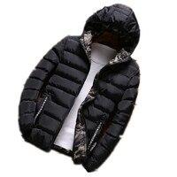 Uomo Giacche 2017 Nuovo Autunno/Inverno dei Nuovi Uomini Giacche Con Cappuccio Da Uomo Due lati indossare giacca Impermeabile zipper large size felpa con cappuccio