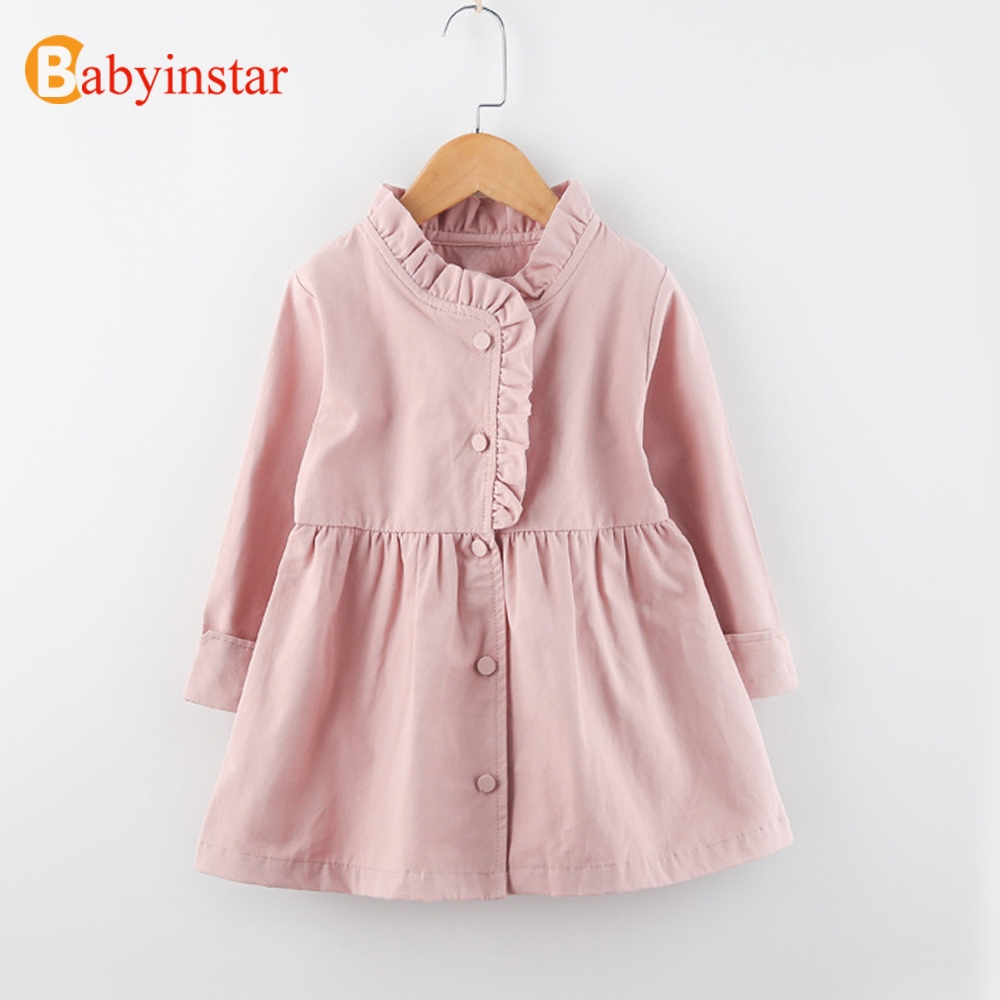 Glorious Babyinstar Children Outerwear & Coats Girl's Jacket Outfit Kid's Clothing European And American Style Double Breasted Coat To Enjoy High Reputation In The International Market