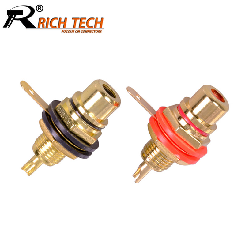 10pcs/lot RCA Connector Gold Plated Female Jack Socket Solder Wire Connector RCA Panel Mount Chassis Wholesales 10pcs red 10pcs black rca panel mount connector rca female socket rca panel mount audio socket plug connector bulkhead mayitr