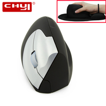 CHYI Wireless Vertical Mouse Ergonomic 2.4Ghz 1600DPI Right Hand Mice With Mouse Pad Kit USB 2.0 Receiver For PC Laptop Desktop цена и фото