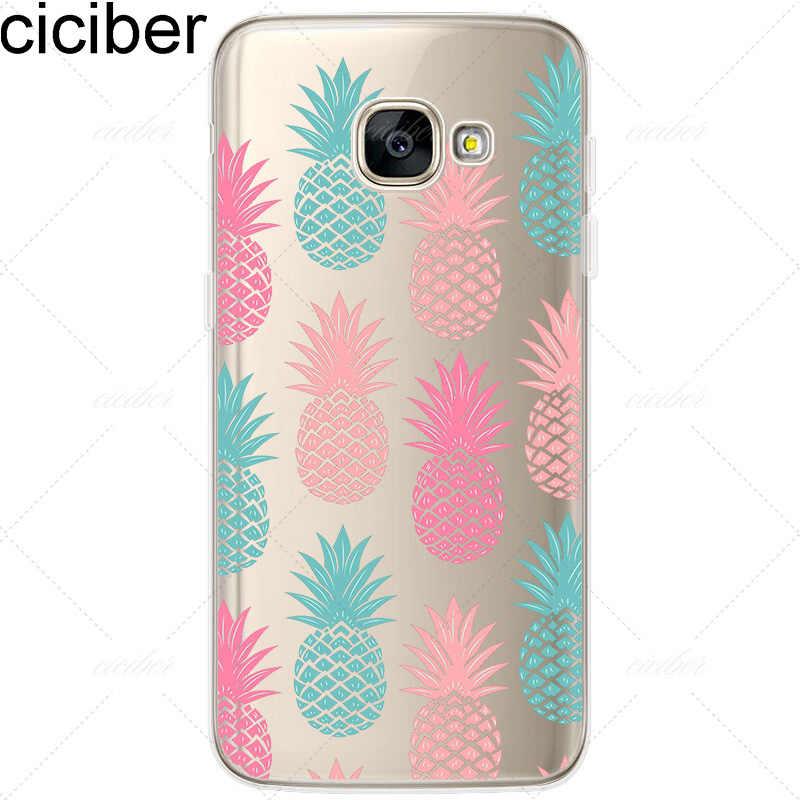 Ciciber Flamingo jednorożec ananas silikonowe etui na telefony pokrywa dla samsung Galaxy S6 7 8 krawędzi plus A3 A5 A7 J3 j5 J7 2016 2017