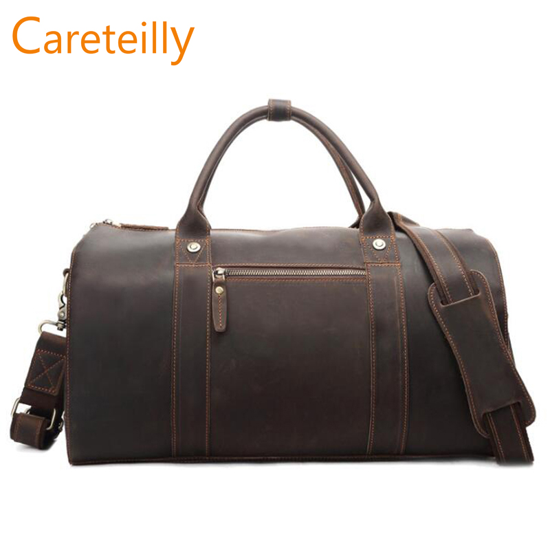 Careteilly Genuine Leather Duffel travel bags Cow Leather Duffel bags Men Duffel Bags Careteilly Genuine Leather Duffel travel bags Cow Leather Duffel bags Men Duffel Bags