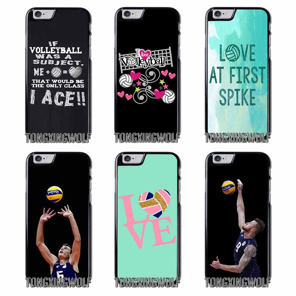 wholesale dealer 1e402 e878a Love Volleyball Cover Case For Iphone 4 4s 5 5c 5s se 6 6s 7 8 plus x  xiaomi redmi note oneplus 3 3T 4X 3s-in Half-wrapped Case from Cellphones &  ...