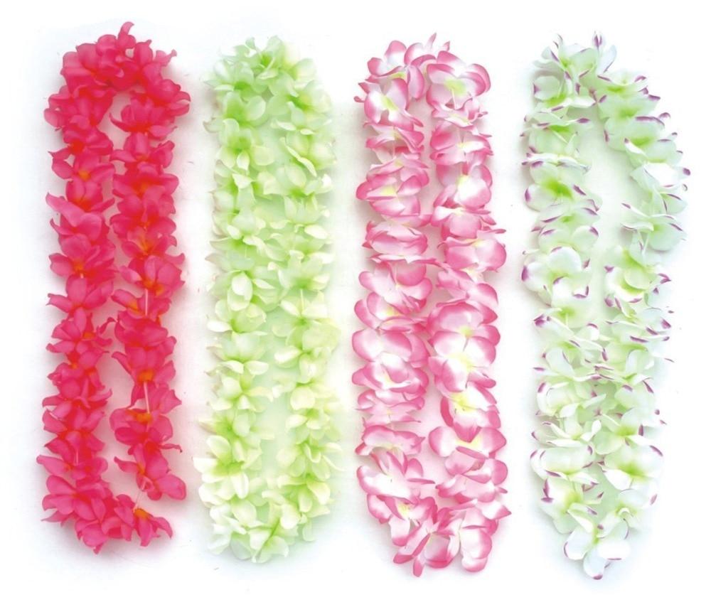 Bosheng 15 Pcs Party Festive Supplies Hawaiian Flower Lei Garland
