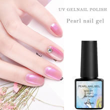 Uv Gel Nagellak Parel Mermaid Nail Art Lak Vernis 8 Ml Bling Langdurige Macaron Losweken Vernis gel Lak Top Gel(China)