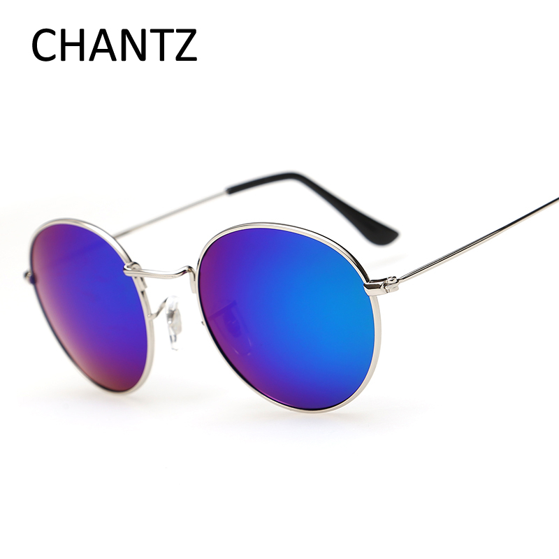 Rodada do vintage Óculos Polarizados Óculos de Sol Das Mulheres Da Marca  Condução Óculos de Sol para o Revestimento Dos Homens de Metal Shades UV400  Lunette ... 42bceaf1a6
