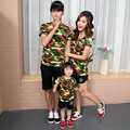 2017 mother father baby tshirt tee tops summer cotton camouflage T-shirt family matching outfits